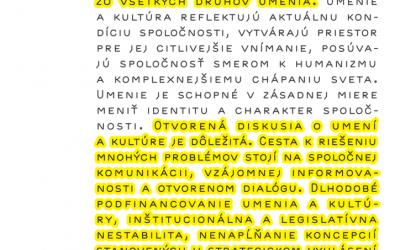 Ako vyzerá podpora súčasného umenia na Slovensku?